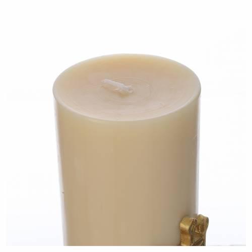 Cero da altare simbolo Mariano cera api diam cm 8 s3