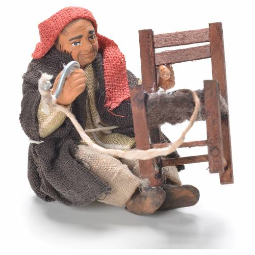 Chair fixer sitting, Neapolitan Nativity 10cm s1