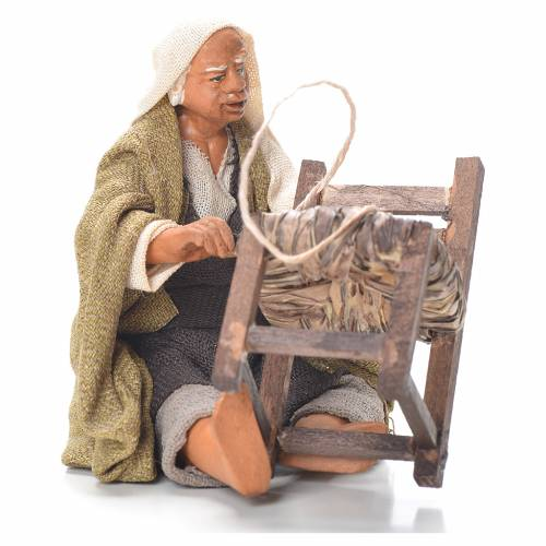 Chair fixer, sitting, Neapolitan Nativity 12cm s1