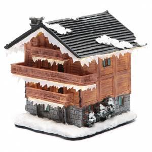 Christmas villages sets: Chalet for winter village20x20x20 cm