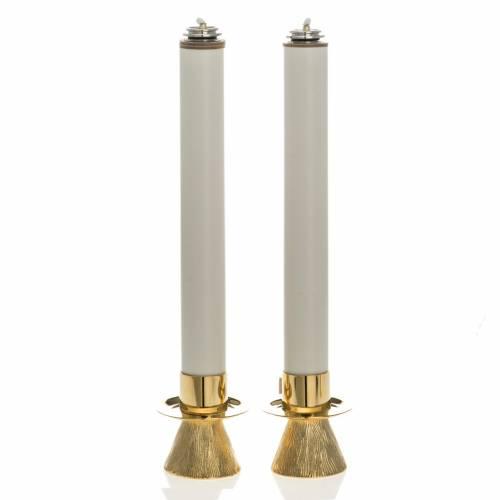 Chandeliers avec bagues et bougies pvc s1