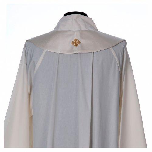 Chape liturgique 80% polyester calice hostie raisin épis s7