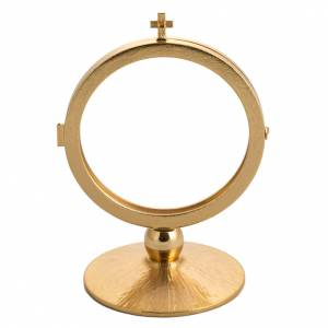 Monstrances, Chapel monstrances, Reliquaries in metal: Chapel monstrance in gold plated brass for 15 cm host