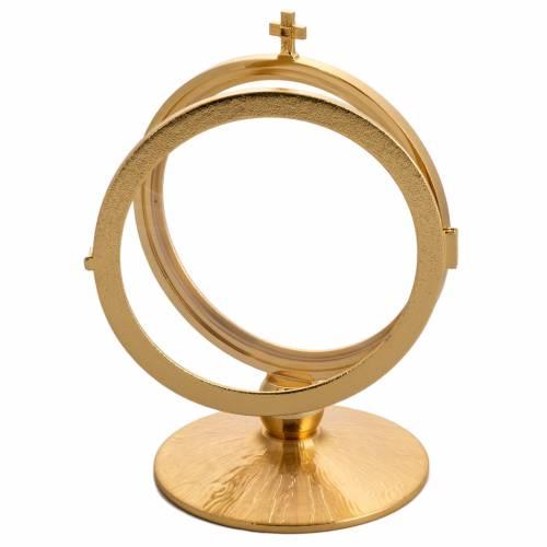 Chapel monstrance in gold plated brass for 15 cm host s3