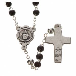 Chapelets et chapelets dix grains: Chapelet acajou et croix Pape François