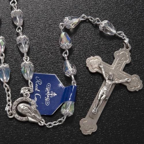 Chapelet en perles cristal goute transparente s2