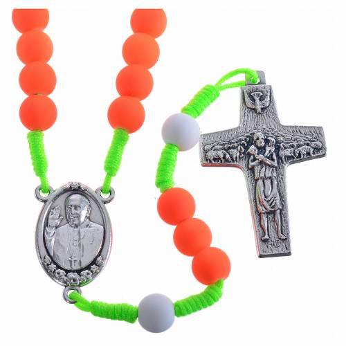 Chapelet fimo orange Pape François s1