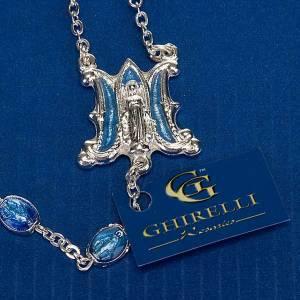 Chapelet Ghirelli argenté médailles bleues s4