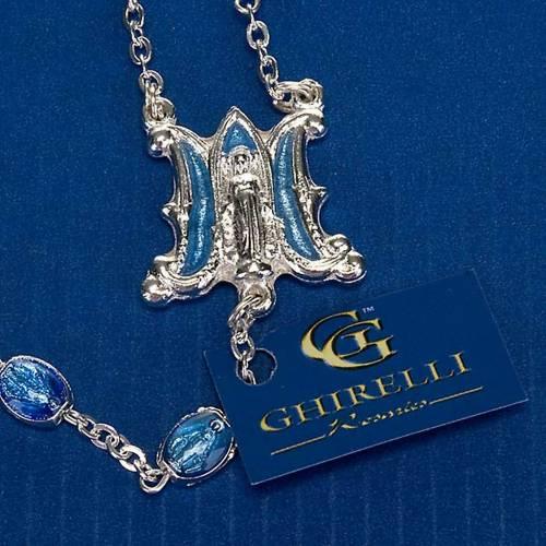 Chapelet Ghirelli argenté médailles bleues 4