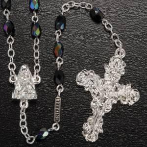 Chapelet Ghirelli Lourdes verre noir brillant s2