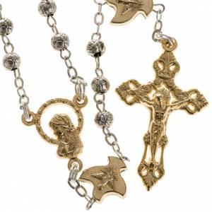 Chapelet, métal,Saint Esprit, roses, colombes s1