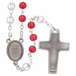 Rosaires de dévotion: Chapelet Pape François pvc blanc et rouge 4 mm