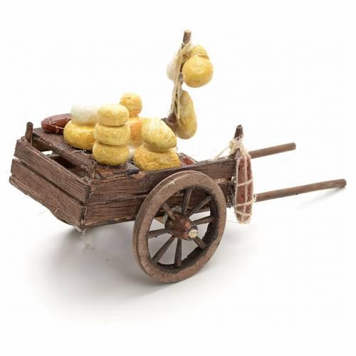 Charette de charcuterie en miniature crèche Napolitaine 8 s3