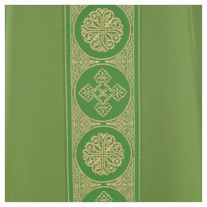 Chasuble 100% polyester décors croix dorées s7