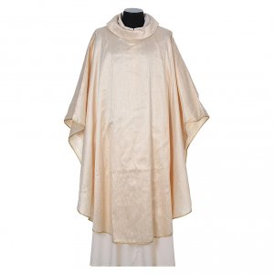 Chasuble 100% pure soie shantung s5