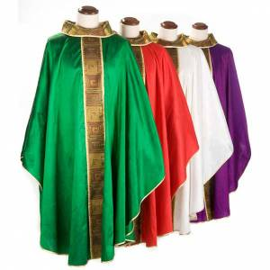Chasubles: Chasuble 100% silk square motif