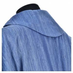 Chasuble bleu ciel 100% pure soie shantung s7