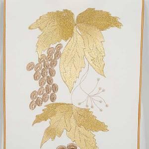 Chasuble et étole IHS et feuilles de raisin s7