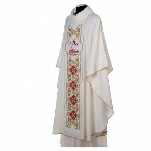 Chasuble in 80% polyester 20% wool, Lamb of God s4