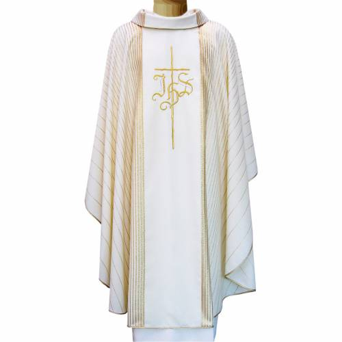 Chasuble in pure wool with double twisted yarn s4