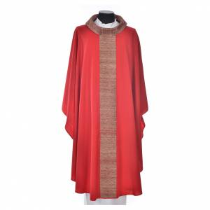 Chasuble in pure wool with orphrey in pure silk s5