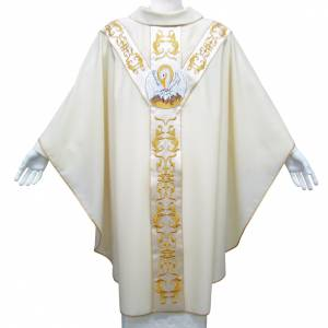 Chasuble in pure wool with Pelican symbol s1