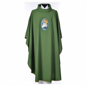 STOCK Chasuble Jubilee with LATIN application 100% polyester s6