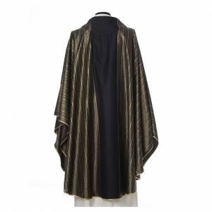 Chasuble noire 100% pure laine double retors Tasmania s3
