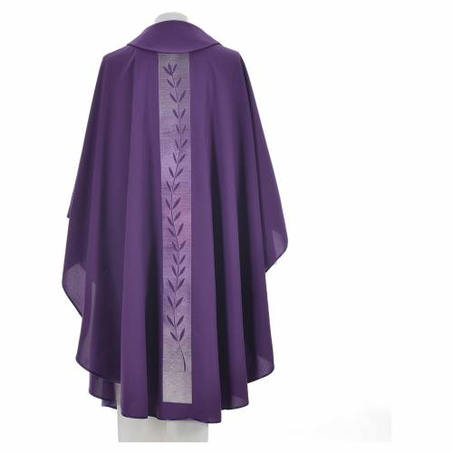 Chasuble rameau d'olivier sur bande centrale polyester s4