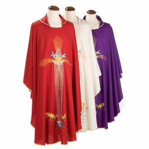 Chasubles: Chasuble with deer, stoop, loaves and fish