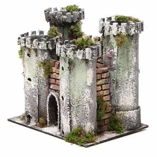 Château pour crèche 4 tours 18x20x14 cm s2