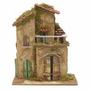 Maisons, milieux, ateliers, puits: Chaumière avec terrasse 21x16 cm