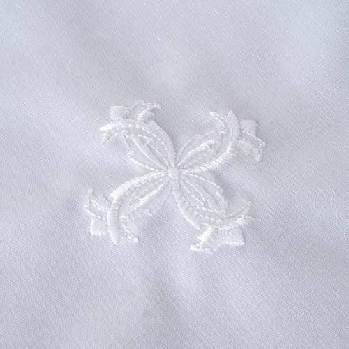 Chemise pour baptême, croix blanche s2