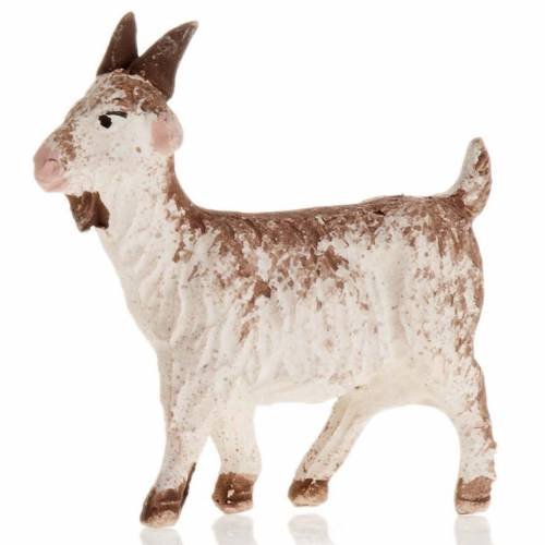 Chèvre blanche crèche Napolitaine 12 cm s1