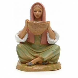 Figuras del Belén: Chica con cesta 12 cm Fontanini