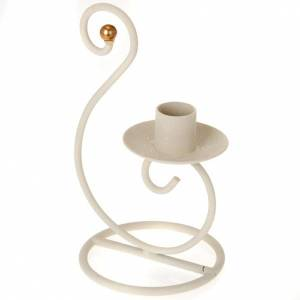 Christmas decoration: candlestick metal 2cm candles s1