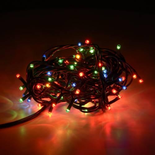 Christmas lights 100 mini lights, multicoloured, for indoor use s2