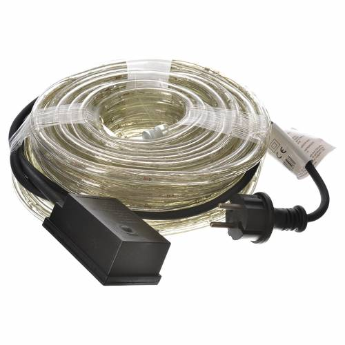 Christmas lights, tube of 15m, ice white, for indoor and outdoor use, programmable s3