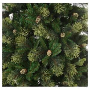 Artificial Christmas trees: Christmas tree 225 cm, green with pine cones Carolina