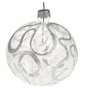 Christmas tree bauble in blown glass 8cm s1