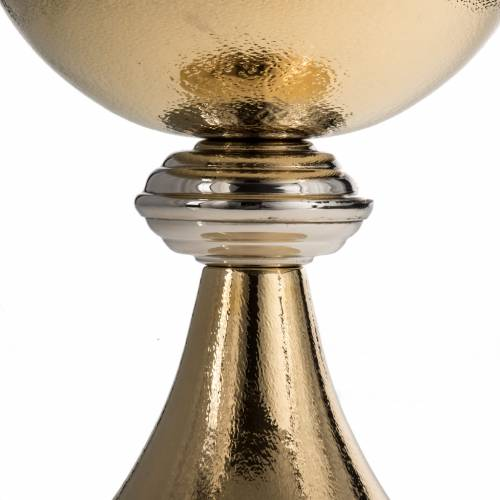 Ciboire laiton crénelé h 28 cm s5
