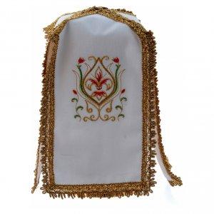 Altar linens: Ciborium veil with cross in pure cotton