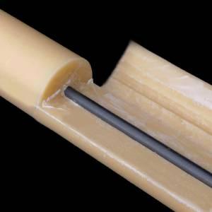 Cierge Pascal en cire d'abeilles AVEC RENFORT 8x120cm s4