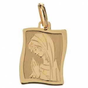Ciondolo Maria in preghiera oro 750/00 - gr. 1,63 s1