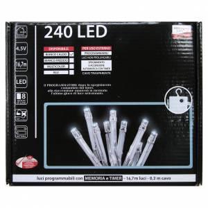 Éclairage Noël chaîne 240 LEDS blanc chaud EXTÉRIEUR piles programmable s4
