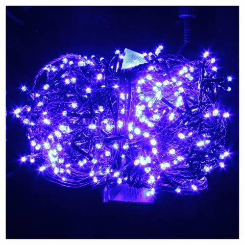 Éclairage Noël chaîne 600 LEDS bleu EXTÉRIEUR programmable s2