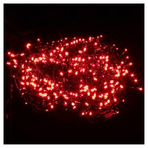 Éclairage Noël chaîne 600 LEDS rouges EXTÉRIEUR programmable s2