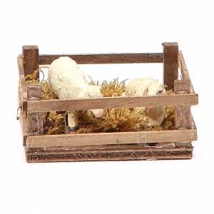Clôture pour moutons 3x6,5x6,5 cm crèche napolitaine s1