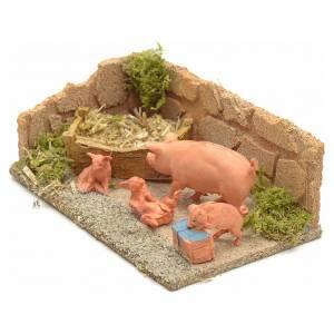 Cochons milieu crèche de Noel s2