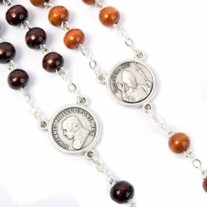 Coconnut-effect rosary with round beads s5